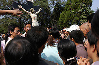 Catholic procession in Shaanxi province, China in September 2005.