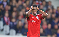 LILLE, FRANCE - Thursday, October 23, 2014: Lille OSC's Divock Origi in action against Everton during the UEFA Europa League Group H match at Stade Pierre-Mauroy. (Pic by David Rawcliffe/Propaganda)