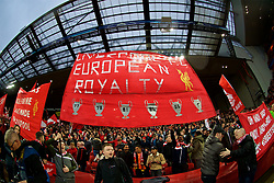 LIVERPOOL, ENGLAND - Tuesday, April 24, 2018: Liverpool supporters on the Spion Kop before the UEFA Champions League Semi-Final 1st Leg match between Liverpool FC and AS Roma at Anfield. European Royalty. (Pic by David Rawcliffe/Propaganda)