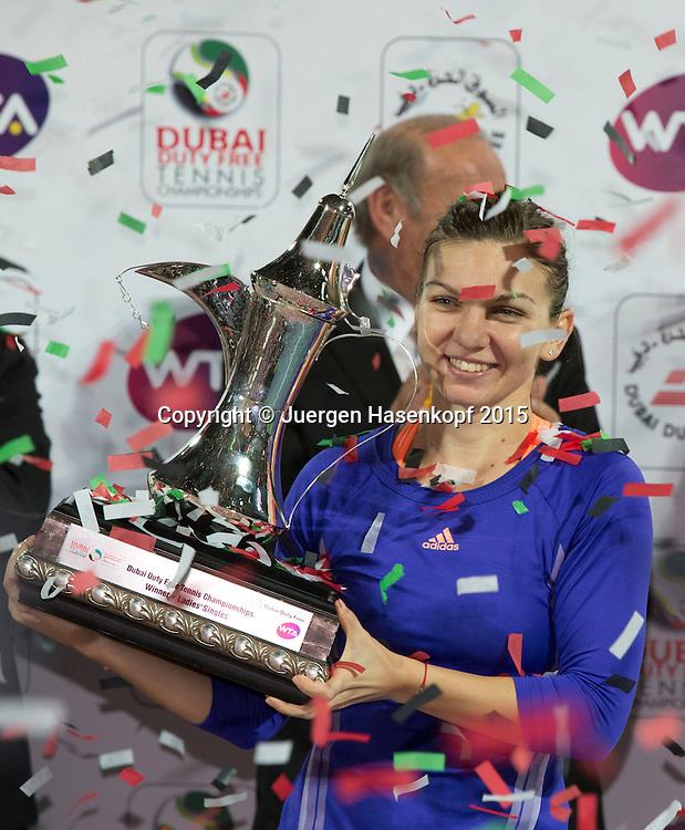 Simona Halep (ROU)<br /> <br /> Tennis - Dubai Tennis Championships 2015 -  WTA -   - Dubai -  - United Arab Emirates  - 21 February 2015. <br /> &copy; Juergen Hasenkopf