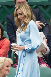 © Licensed to London News Pictures. 19/05/2019. London, UK. Katherine Jenkins  attends the Wimbledon No.1 Court Celebration event. The event marks the unveiling of a retractable roof and extended seating capacity at a cost of £70 million. Photo credit: Ray Tang/LNP