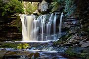 View of the scenic Elakala Falls waterfall, located in Blackwater Falls State Park near Davis, West Virginia