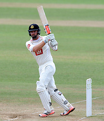 Sussex's Chris Nash pulls the ball - Photo mandatory by-line: Harry Trump/JMP - Mobile: 07966 386802 - 08/07/15 - SPORT - CRICKET - LVCC - County Championship Division One - Somerset v Sussex- Day Four - The County Ground, Taunton, England.