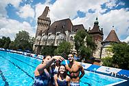 Team BRA during the training session<br /> Synchronised swimming , Synchro<br /> 12/07/2017 <br /> XVII FINA World Championships Aquatics<br /> City Park - Varosliget Lake<br /> Budapest Hungary July 14th - 30th 2017 <br /> Photo @ Giorgio Perottino/Deepbluemedia/Insidefoto