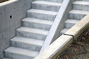 concrete stairs at a new residential housing development