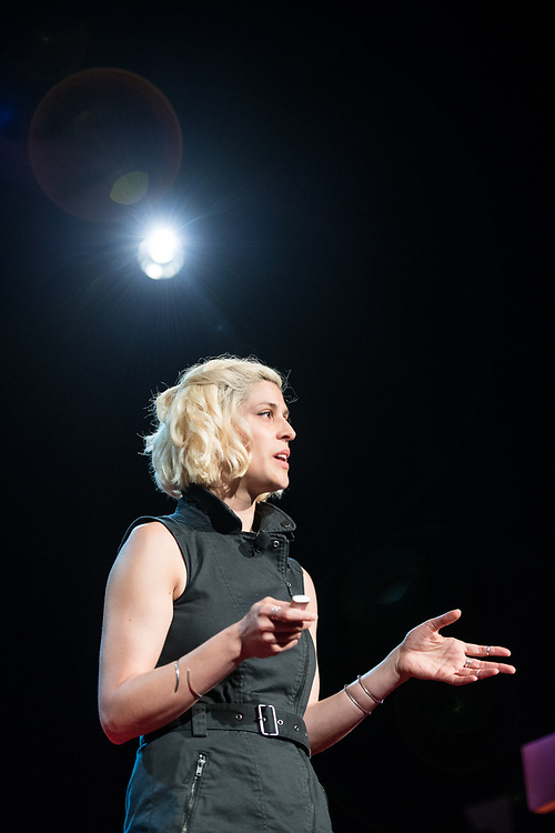 Dessa speaks during the TEDxWanChai event Emergence on Jun 2, 2018, in Hong Kong. / Moses Ng / MozImages
