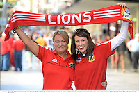 22 June 2013; British & Irish Lions supporters Cathy Ahern, from Killeedy, Co. Limerick, left, and Natalie O'Gorman, from Bansha, Co. Tipperary, in Brisbane ahead of the game. British & Irish Lions Tour 2013, 1st Test, Australia v British & Irish Lions. Brisbane, Queensland, Australia. Picture credit: Stephen McCarthy / SPORTSFILE