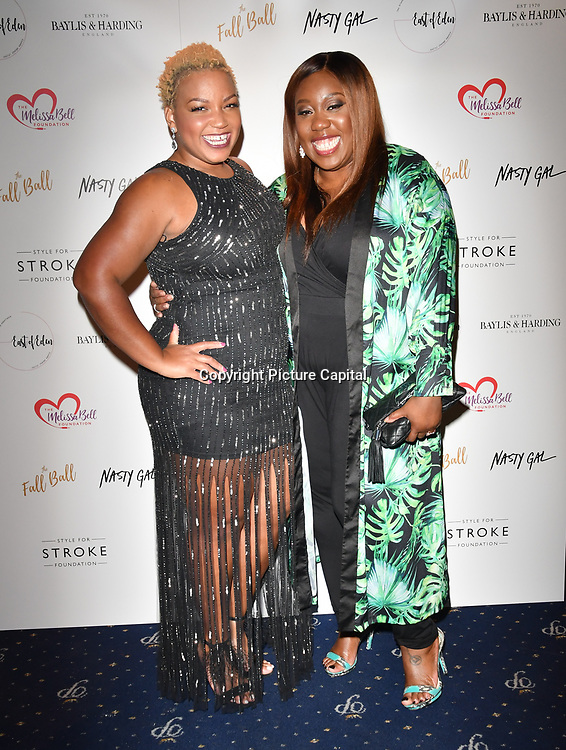 Marisha Wallace, Chizzy Akudolu attends gala dinner and concert to raise money and awareness for the Melissa Bell Foundation and Style For Stroke Foundation. 14 October 2018.