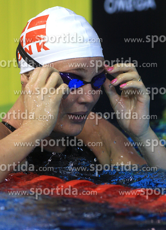 Jeanette Ottesen of Denmark after the women's 50m Freestyle semifinal race at day 4 of LEN European Short Course Swimming Championships Rijeka 2008, on December 14, 2008,  in Kantrida pool, Rijeka, Croatia. (Photo by Vid Ponikvar / Sportida)