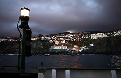 PORTUGAL MADEIRA FUNCHAL 18OCT14 -  View of Funchal, the capital of Madeira from on board the Greenpeace ship Esperanza anchored outside the port.<br /> <br /> <br /> <br /> jre/Photo by Jiri Rezac<br /> <br /> <br /> <br /> &copy; Jiri Rezac 2014