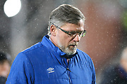 Craig Levein, manager of Heart of Midlothian walks to the technical area ahead of the Ladbrokes Scottish Premiership match between Heart of Midlothian and Kilmarnock at Tynecastle Stadium, Gorgie, Scotland on 27 February 2018. Picture by Craig Doyle.
