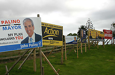 Auckland-Mayoral buntings for election across city