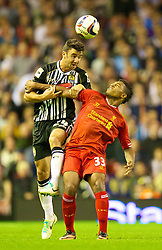 27.08.2013, Anfield, Liverpool, ENG, League Cup, FC Liverpool vs Notts County FC, 2. Runde, im Bild Liverpool's Jordon Ibe in action against Notts County during the English League Cup 2nd round match between Liverpool FC and Notts County FC, at Anfield, Liverpool, Great Britain on 2013/08/27. EXPA Pictures © 2013, PhotoCredit: EXPA/ Propagandaphoto/ David Rawcliffe<br /> <br /> ***** ATTENTION - OUT OF ENG, GBR, UK *****