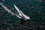 Belle racing in the Museum of Yachting Classic Yacht Regatta.