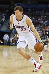 October 29, 2010; Oakland, CA, USA;  Los Angeles Clippers power forward Blake Griffin (32) dribbles the ball against the Golden State Warriors during the second quarter at Oracle Arena.