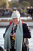 Putney/Mortlake, GREATER LONDON. United Kingdom. 2017 Women's and Men's University Boat Races, held over, The Championship Course, Putney to Mortlake on the River Thames. 2017 Past, FISA official and Chairman Henley Royal Regatta. Mike SWEENEY, Sunday  02/04/2017, <br />