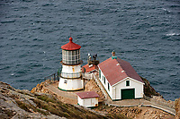 The lighthouse - built in 1870 and retired in 1975 -,  Point Reyes National Seashore , California, USA