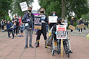 young protesters  during the Black Lives Matter protest at Queens Gardens, Hull, United Kingdom on 10 June 2020.