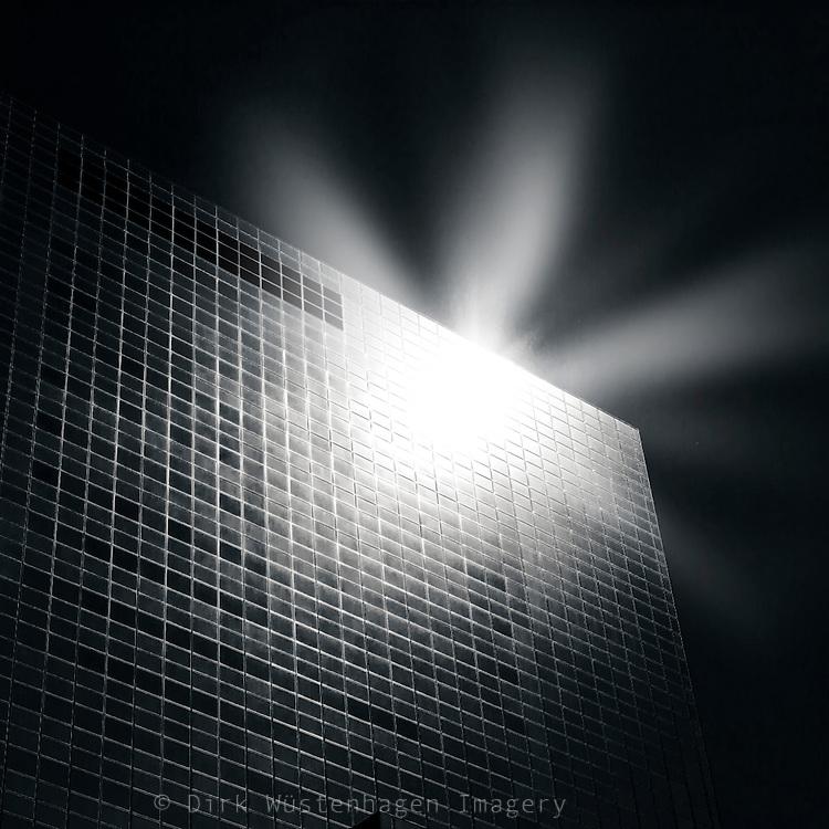 Reflecting light on a skyscraper - extreme light and contrast<br /> <br /> Prints: http://society6.com/DirkWuestenhagenImagery/monolith-1B2_Print