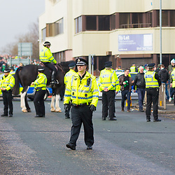 Rangers v Celtic Scottish Premiership 11 March 2018; Tight security before the Rangers v Celtic Scottish Premiership match played at Ibrox Stadium, Glasgow; <br /> <br /> &copy; Chris McCluskie | SportPix.org.uk