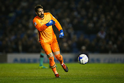 Scott Carson of Derby County throws the ball out - Mandatory by-line: Jason Brown/JMP - 10/03/2017 - FOOTBALL - Amex Stadium - Brighton, England - Brighton and Hove Albion v Derby County - Sky Bet Championship