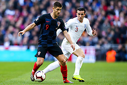 Andrej Kramaric of Croatia takes on Ben Chilwell of England - Mandatory by-line: Robbie Stephenson/JMP - 18/11/2018 - FOOTBALL - Wembley Stadium - London, United Kingdom - England v Croatia - UEFA Nations League