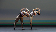 BBC Young Dancer 2015 <br /> at Sadler's Wells, London, Great Britain <br /> 8th May 2015 <br /> <br /> Grand Final <br /> TX Saturday 7pm on 9th May 2015 <br /> <br /> <br /> <br /> Connor Scott - Contemporary - left <br /> in a duet with Meshach Henry <br /> dancing a piece called Blood Snow <br /> <br /> <br /> Photograph by Elliott Franks <br /> Image licensed to Elliott Franks Photography Services