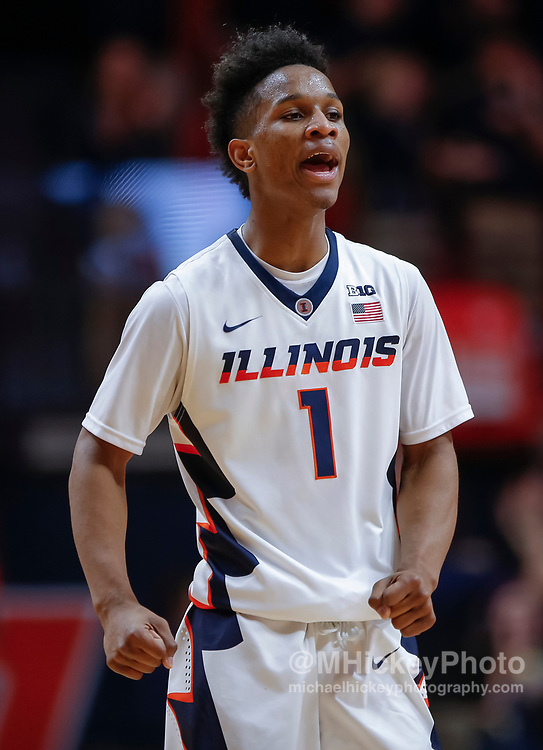 CHAMPAIGN, IL - FEBRUARY 08: Trent Frazier #1 of the Illinois Fighting Illini is seen during the game against the Wisconsin Badgers at State Farm Center on February 8, 2018 in Champaign, Illinois. (Photo by Michael Hickey/Getty Images) *** Local Caption *** Trent Frazier