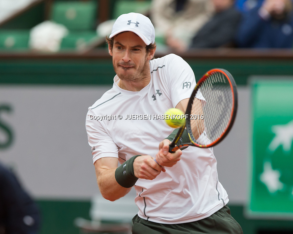 Andy Murray (GBR)<br /> <br /> Tennis - French Open 2016 - Grand Slam ITF / ATP / WTA -  Roland Garros - Paris -  - France  - 3 June 2016.