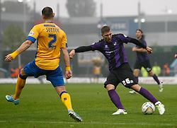 Bristol Rovers' Ryan Brunt shoots at goal - Photo mandatory by-line: Matt Bunn/JMP - Tel: Mobile: 07966 386802 12/10/2013 - SPORT - FOOTBALL - Field Mill - Mansfield - Mansfield Town V Bristol Rovers - Sky Bet League 2