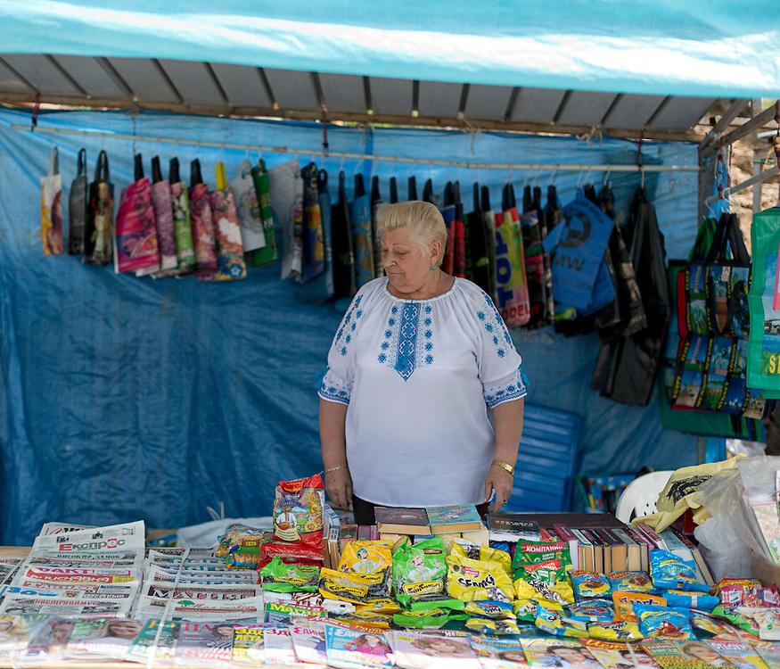 Bancarella del mercato di ponte mammolo.<br /> <br /> Stall in to Ponte Mammolo