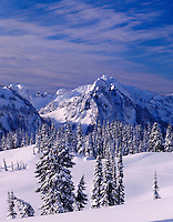 Tatoosh Range in winter, Mount Rainier National Park Washington USA beautiful