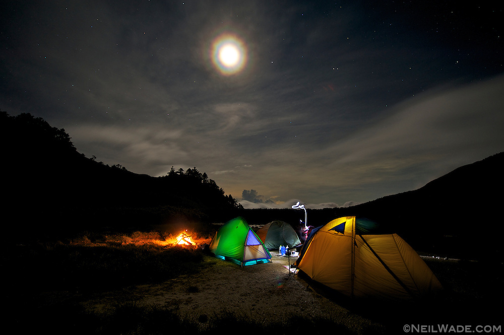 Camping was wonderful at Tianchih Lake.