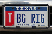 "Johny Hendricks ""BG RIG"" personalized license plate on his dually truck on February 26, 2014."