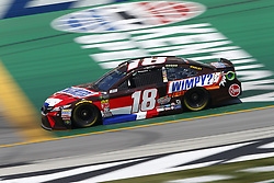 July 13, 2018 - Sparta, Kentucky, United States of America - Kyle Busch (18) brings his race car down the front stretch during practice for the Quaker State 400 at Kentucky Speedway in Sparta, Kentucky. (Credit Image: © Chris Owens Asp Inc/ASP via ZUMA Wire)