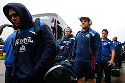 Bristol Rugby replacement Gaston Cortes and the team arrive at the ground - Mandatory byline: Rogan Thomson/JMP - 18/05/2016 - RUGBY UNION - Castle Park - Doncaster, England - Doncaster Knights v Bristol Rugby - Greene King IPA Championship Play Off FINAL 1st Leg.