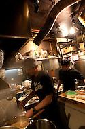 The kitchens of Bassa Nova ramen restaurant in Shindaita district, in Tokyo, Japan, Wednesday 28th April 2010.