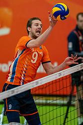 09-06-2019 NED: Golden League Netherlands - Spain, Koog aan de Zaan<br /> Fourth match poule B - The Dutch beat Spain again in five sets in the European Golden League / Ewoud Gommans #9 of Netherlands