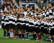 Rugby Union. Barbarians line up for the Barbarians vs Fiji as part of the celebrations of the centenary of the Fiji Rugby Union at Twickenham Stadium on November 30, 2013. London, England. Photo Michael Paler/ Photosport.co.nz