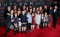 Outlaw King Premiere, Edinburgh, Friday 19th October 2018<br /> <br /> Outlaw King is a Netflix film and follows 14th century Scottish king Robert the Bruce prior to his coronation and through to his rebellion against the English, who at the time were occupying Scotland.<br /> <br /> Stars, crew and guests appear on the red carpet for the Scottish premiere.<br /> <br /> Pictured: cast and crew<br /> <br /> Alex Todd | Edinburgh Elite media