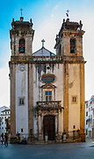Facade of the St. Bartolomeu Church, Coimbra, Portugal