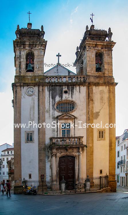 Facade of the St. Bartolomeu Church, Coimbra, Portugal