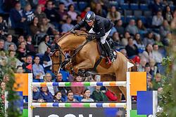 DREHER Hans-Dieter (GER), Prinz<br /> Stuttgart - German Masters 2019<br /> Preis der Firma GEZE GmbH<br /> Int. Springprüfung mit Siegerrunde (1.50 m)<br /> CSI5*-W, Wertungsprüfung für LONGINES Ranking<br /> 16. November 2019<br /> © www.sportfotos-lafrentz.de/Stefan Lafrentz