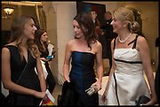 NIKA GALKINA; JUSTINE WADDELL; LYUBA GALKINA, The Old Russian New Year's Eve Gala. In aid of the Gift of Life foundation. Savoy Hotel, London. 13 January 2015.