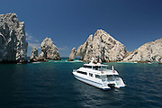 A selection of different boats, in the los cabos area.