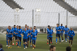 July 26, 2017 - Marseille, FRANCE - Oostende's players pictured during a training session of Belgian first division soccer team KV Oostende ahead of the first leg of the third qualifying round for the UEFA Europa League competition, Wednesday 26 July 2017 in Marseille. KV Oostende plays against Olympic Marseille on Thursday. BELGA PHOTO LAURIE DIEFFEMBACQ (Credit Image: © Laurie Dieffembacq/Belga via ZUMA Press)
