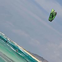 The Kite surfing competition in Aruba Hi Winds 2012. Aruba Island, July 3-July 9, 2012. International Competition windsurfing and kite surfing. Jimmy Villalta & Valentina Calatrava
