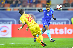 November 14, 2017 - Bucharest, Romania - Netherlands's Memphis scores against Romania's Sergiu Hanca during International Friendly match between Romania and Netherlands at National Arena Stadium in Bucharest, Romania, on 14 november 2017. (Credit Image: © Alex Nicodim/NurPhoto via ZUMA Press)