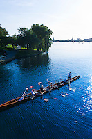 Sculls (rowboats), Alster Lake, Hamburg, Germany