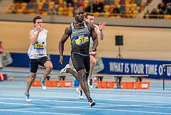 11-02-2017 NED: AA Drink NK Indoor, Apeldoorn<br /> Salomon Bockarie op de 60 meter